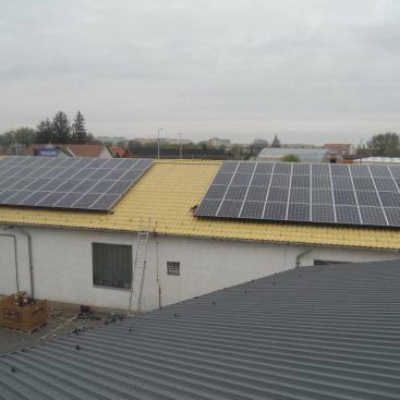 Nyíregyházi üzem napelemes rendszere