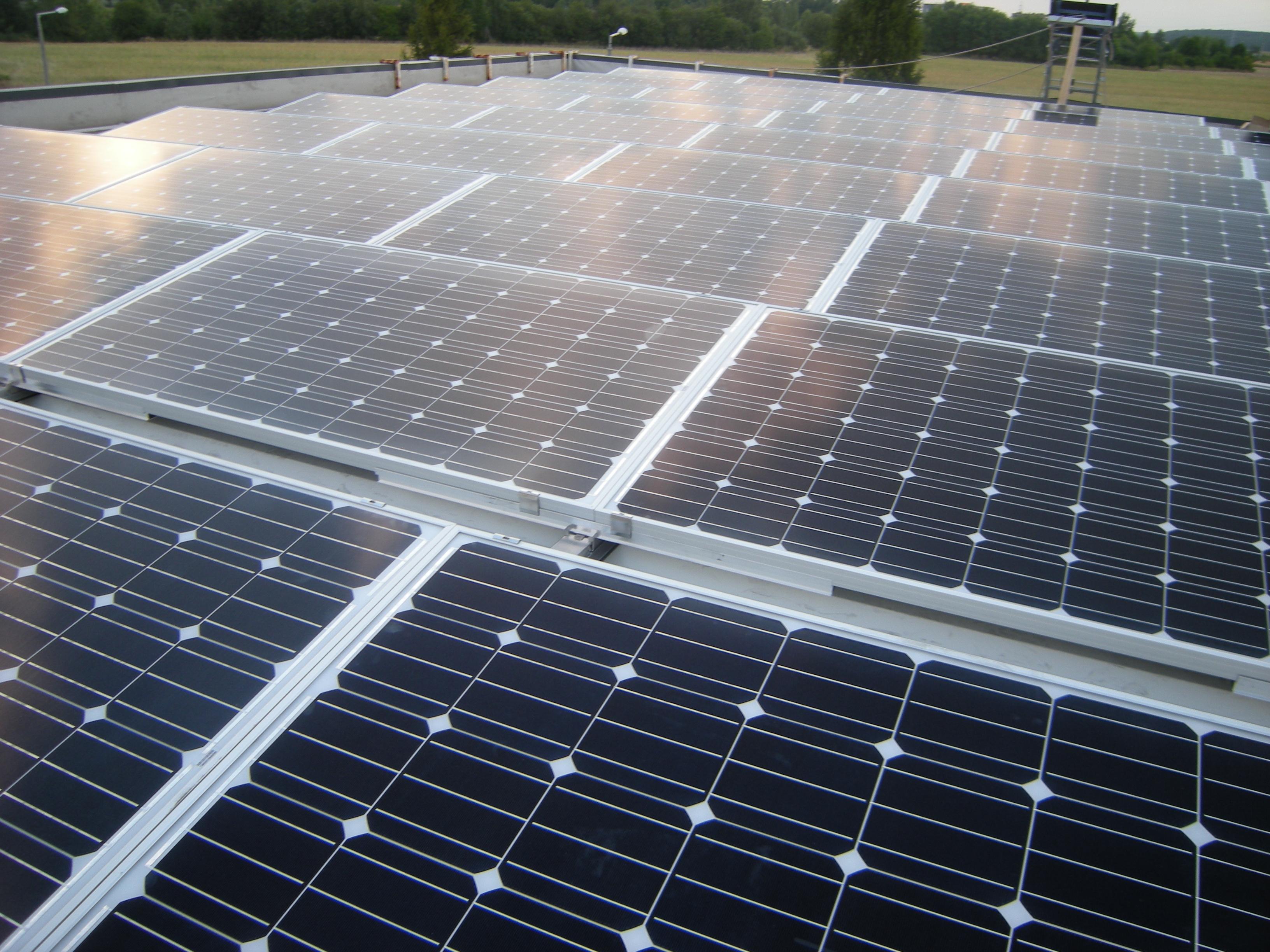 Nagykanizsai üzem napelemes rendszere