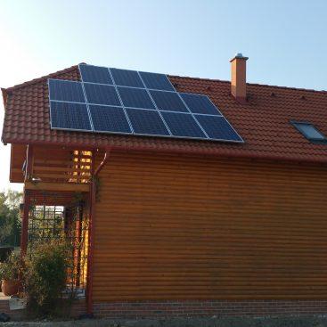 Hétvégi ház - Napelemes rendszere