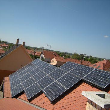 Győrujfalui családi ház - napelemes rendszere