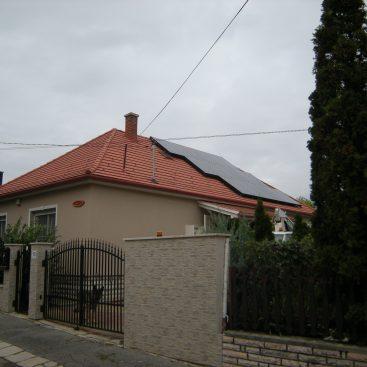 Balatonfüredi családi ház napelemes rendszere
