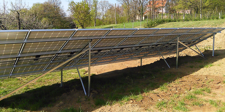 Mencshelyi farm napelemes rendszere